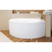 Anette™ Left Corner Acrylic Bathtub, High Gloss White, 59'' W x 37-1/2'' D x 24-3/4'' H
