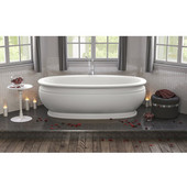 Olympian™ by Savio Classic Freestanding Oval Solid Surface Bathtub, Matte White, 70-3/4'' W x 37-1/2'' D x 22-3/4'' H