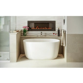 PureScape AquateX™ Small Freestanding Oval Solid Surface Bathtub, Matte White, 51-1/4'' W x 27-1/2'' D x 23-1/2'' H