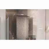 Spring SQ-400 Top-Mounted Square Shower Head, Chrome, 15-3/4''W x 15-3/4''D x 2-1/2''H