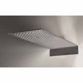 Spring RC-450/200 Wall-Mounted Rectangular Shower Head, Chrome, 17-3/4''W x 7-3/4''D x 3-1/2''H