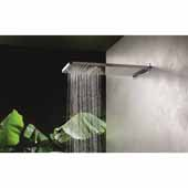 Spring RC-590/310-A Wall-Mounted Rectangular Shower Head, Chrome, 23-1/4''W x 12-1/4''D x 2-1/4''H