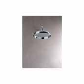 Spring RD-300 Retro Top-Mounted Round Shower Head, Chrome, 11-3/4''W x 11-3/4''D x 5-1/2''H