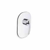 Bollicine-686 Wall Mounted Shower Control with 1 Outlet, Chrome, 5''W x 4-1/4''D x 7-1/2''H