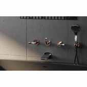 Bollicine-114 Wall Mounted 3-Hole Shower Control, Chrome, 17-1/4''W x 5-1/4''D x 2-1/4''H