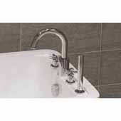 Celine 4-Hole Deck Mounted Bath Filler in Chrome, Faucet Spout Reach 7-3/4''