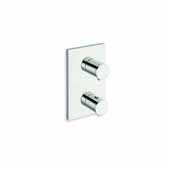 RD-753 High Throughput Thermostatic Valve with Built-In Diverter and 3 Outlets, Chrome, 4-3/4''W x 3-1/2''D x 7-3/4''H