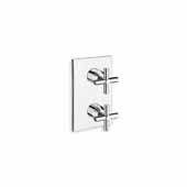 Celine-753 High Throughput Thermostatic Valve with Built-In Diverter and 3 Outlets, Chrome, 4-3/4''W x 4''D x 7-3/4''H