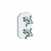 Retro-752 High Throughput Thermostatic Valve with Built-In Diverter and 2 Outlets, Chrome, 4-3/4''W x 3-1/2''D x 7-3/4''H