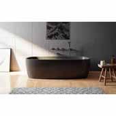 Coletta™ Freestanding Solid Surface Rectangular Bathtub, Graphite Black, 70-3/4''W x 35-1/2''D x 19-3/4''H