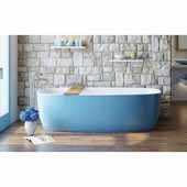 Coletta™ Freestanding Solid Surface Rectangular Bathtub, Blue Outside, White Inside, 70-3/4''W x 35-1/2''D x 19-3/4''H
