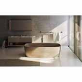 Coletta™ Freestanding Solid Surface Rectangular Bathtub, Sandstone, 70-3/4''W x 35-1/2''D x 19-3/4''H