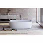Coletta™ Freestanding Solid Surface Rectangular Bathtub, White, 70-3/4''W x 35-1/2''D x 19-3/4''H