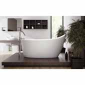 Emmanuelle 2 Freestanding Solid Surface Unique-Shaped Bathtub, White, 66-1/4''W x 35''D x 32-3/4''H