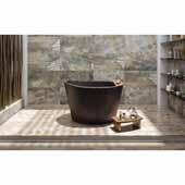 True Ofuro Tranquility Heated Japanese Unique-Shaped Bathtub (220/240V/50/60Hz USA/International), Black, 51-1/2'' W x 36-1/4'' D x 33-3/4'' H