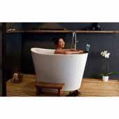True Ofuro Tranquility Heated Japanese Unique-Shaped Bathtub (US version 110V/60Hz), White, 51-1/2'' W x 36-1/4'' D x 33-3/4'' H