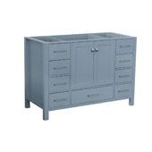 Cambridge 48'' Single Sink Base Cabinet In Grey, 48''W x 21-1/2''D x 33-1/2''H