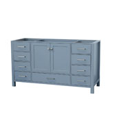 Cambridge 60'' Single Sink Base Cabinet In Grey, 60''W x 21-1/2''D x 33-1/2''H