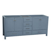 Cambridge 72'' Double Sink Base Cabinet In Grey, 72''W x 21-1/2''D x 33-1/2''H