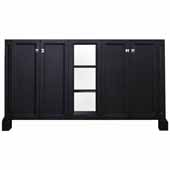 Westwood 60'' Double Sink Base Cabinet In Black, 60''W x 21-1/2''D x 33-1/2''H