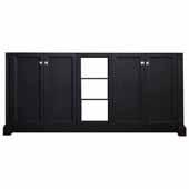 Westwood 72'' Double Sink Base Cabinet In Black, 72''W x 21-1/2''D x 33-1/2''H