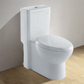 Contemporary European ''Royal'' One Piece Dual Flush Toilet, Soft Close Seat, 1.58 GPF Capacity, 14''W x 28''D x 30''H
