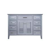 Kensington 48'' Single Sink Base Cabinet In Grey, 48''W x 21-1/2''D x 33-1/2''H