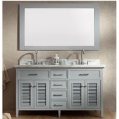 Kensington 61'' Double Sink Vanity Set in Grey, 61''W x 22''D x 35''H