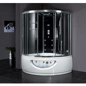 Platinum Collection Steam Shower in Black, 59'' W x 59'' D x 89'' H