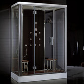Platinum Collection Steam Shower in Black, 59'' W x 35-1/2'' D x 87-2/5'' H