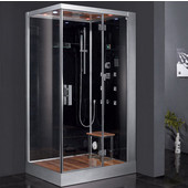 Platinum Collection Steam Shower, Right Side in Black, 47'' W x 35-2/5'' D x 89'' H