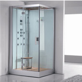 Platinum Collection Steam Shower, Left Side in White, 47'' W x 35-2/5'' D x 89'' H