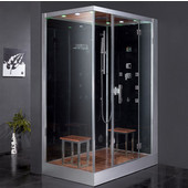 Platinum Collection Steam Shower, Right Side in Black, 59'' W x 35-2/5'' D x 89-1/5'' H