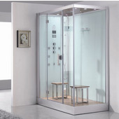 Platinum Collection Steam Shower, Left Side in White, 59'' W x 35-2/5'' D x 89-1/5'' H
