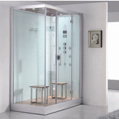 Platinum Collection Steam Shower, Right Side in White, 59'' W x 35-2/5'' D x 89-1/5'' H