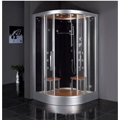 Platinum Collection Steam Shower in Black, 47-1/5'' W x 47-1/5'' D x 89'' H