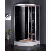 Platinum Fully Loaded Steam Shower, Black, 35-2/5''W x 47''D x 89''H