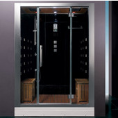 Platinum Collection Steam Shower in Black, 59'' W x 32'' D x 87-2/5'' H