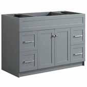 Hamlet 48'' Single Sink Base Cabinet In Grey, 48''W x 21-1/2''D x 33-1/2''H