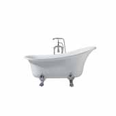 Platinum Isabella 63'' Freestanding Bathtub, White