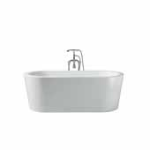 Platinum Charlotte 67'' Freestanding Bathtub, White