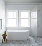 Ariel Platinum Vienna Freestanding Oval Bathtub in White Finish, 73 Gallon Capacity, 67'W x 31-1/2'D x 22-5/8'H