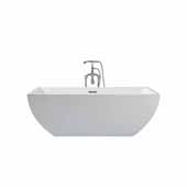 Platinum Chelsea 67'' Freestanding Bathtub, White