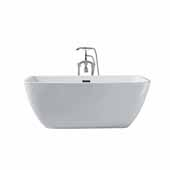 Platinum Aurora 63'' Freestanding Bathtub, White