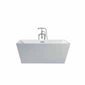 Platinum Verona 67'' Freestanding Bathtub, White