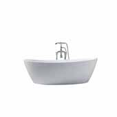 Platinum Valencia 70'' Freestanding Bathtub, White