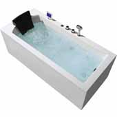 Platinum 70'' Whirlpool Right Drain Rectangular Bathtub, White, 70''W x 31-1/2''D x 24-29/32''H