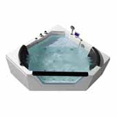 Platinum Whirlpool Bathtub, White, 59-19/32''W x 59-19/32''D x 23-45/64''H