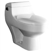 Platinum ''The Athena'' One Piece Single Flush Toilet, Soft Close Seat, 1.6 GPF Capacity, 15-15/16''W x 28-3/8''D x 25''H