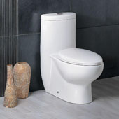 Platinum ''The Hermes'' One Piece Dual Flush Toilet, Soft Close Seat, 1.09/1.54 GPF Capacity, 15-15/16''W x 28-3/8''D x 30-11/16''H